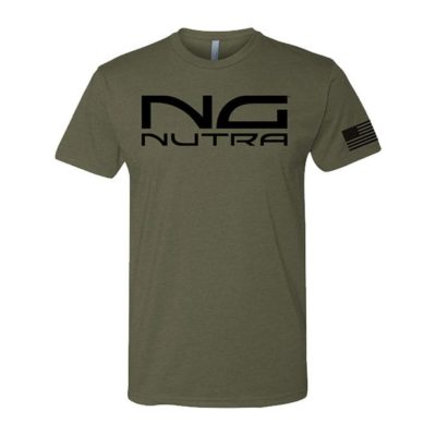 Unisex T-shirt, Military Green with Black Lettering